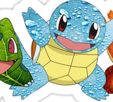 Bulbasaur, Charmander and Squirtle - Art Sticker