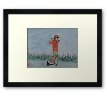 """A Good Swing"" by Carter L. Shepard Framed Print"