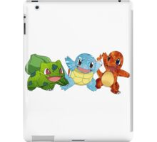 Bulbasaur, Charmander and Squirtle - Art iPad Case/Skin