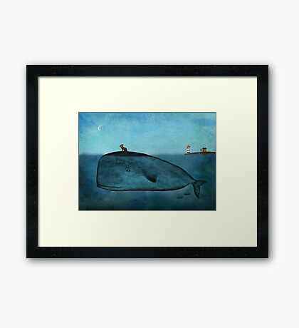 Whale and dog Framed Print
