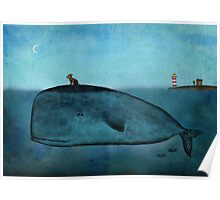 Whale and dog Poster