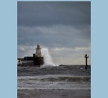 Rough seas at the harbour mouth Unisex T-Shirt