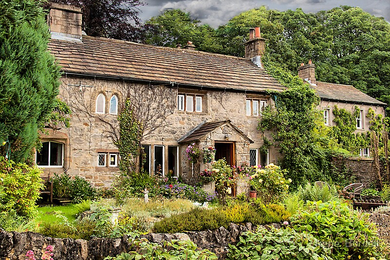 English country cottage by irene burdell redbubble for Pictures of english country cottages