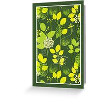 Foliage Lemon & Lime [iPhone / iPod Case and Print] Greeting Card