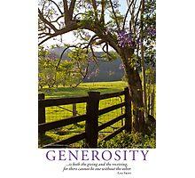 Generosity Photographic Print