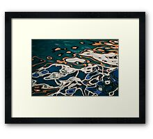 Reflection Patterns on the Lake Framed Print