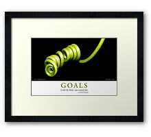 Goals Framed Print