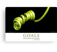 Goals Canvas Print