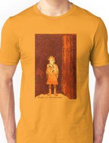 Stuck in the doorway etching/digital Unisex T-Shirt