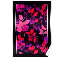 Foliage Raspberry & Musk [iPhone / iPod Case and Print] Poster
