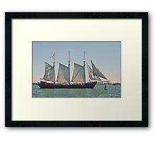 The Kajama in Full Sail Framed Print