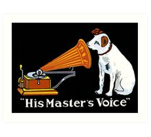 His Master's Voice, Nipper the Dog Art Print