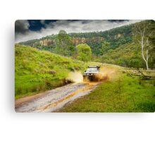 4x4 mudspray Canvas Print
