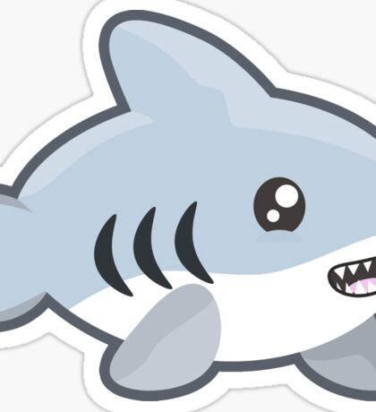 Kawaii Shark Sticker