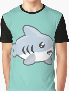 Kawaii Shark Graphic T-Shirt