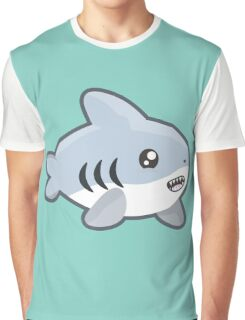 Kawaii Shark Graphic T-Shirt