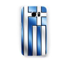 Greek Flag - Greece - Metallic Samsung Galaxy Case/Skin