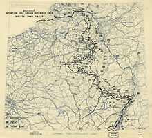 December 28 1944 World War II Twelfth Army Group Situation Map by allhistory