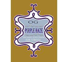 Weed Purple haze medicinal drug gifts  Photographic Print