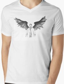 Castiel - Wings Mens V-Neck T-Shirt