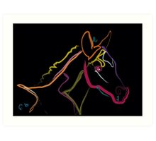 Pillow color foal , filly Art Print