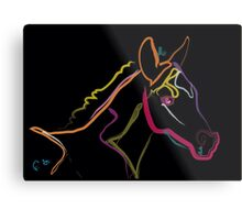 Pillow color foal , filly Metal Print