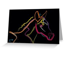 Pillow color foal , filly Greeting Card