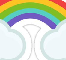 Kawaii clouds and rainbow Sticker