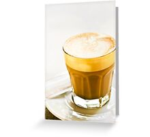 cafe latte Greeting Card