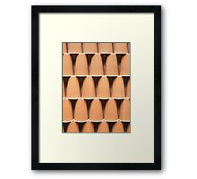 stacked coffee cups Framed Print