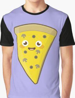 Kawaii Pizza Graphic T-Shirt