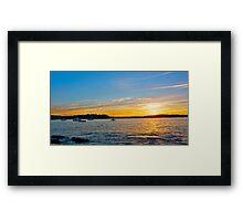 Port Hacking Sunset. Framed Print