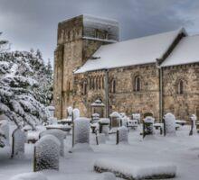 St Cuthbert's in the Snow Sticker
