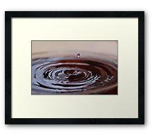 Chocolate Ripples Framed Print