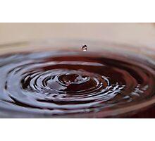 Chocolate Ripples Photographic Print