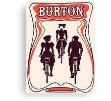 Retro art nouveau style Belgian beer ad Canvas Print