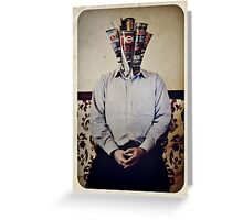 Still Life with The Faceless Man Greeting Card