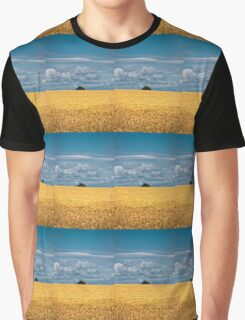 Golden harvest and blue sky Graphic T-Shirt