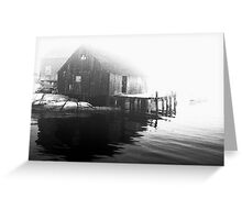 One Foggy Morning Greeting Card