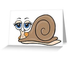 Salty Snail Greeting Card