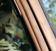 Skeleton Behind The Wheel Of Chevy Truck Sticker
