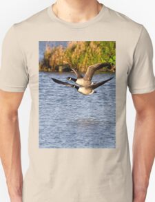Canada Geese in flight Unisex T-Shirt