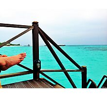 Relaxing by the Indian Ocean Photographic Print