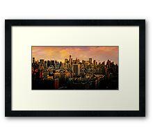 Gotham Sunset Framed Print