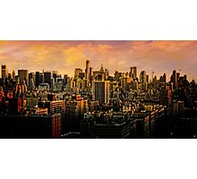 Gotham Sunset Photographic Print
