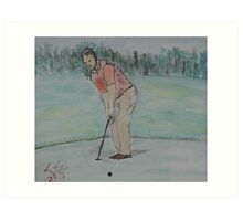 """The Putt""  by Carter L. Shepard Art Print"