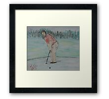 """The Putt""  by Carter L. Shepard Framed Print"