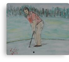 """The Putt""  by Carter L. Shepard Canvas Print"