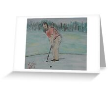 """The Putt""  by Carter L. Shepard Greeting Card"