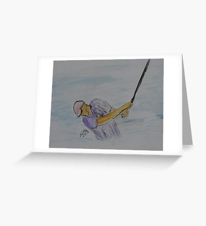 """""""The Swing""""  by Carter L. Shepard Greeting Card"""